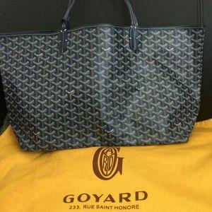 Goyard St. Louis Navy Blue GM Tote Bag